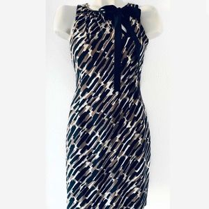 Ann Taylor Dresses - ANN TAYLOR SILK BLACK BROWN SHIFT DRESS SZ 2